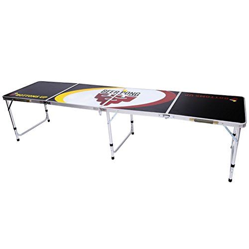 HOMCOM 8' Portable Aluminum Tailgate Beer Pong Table