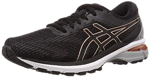 ASICS Damen Gt-2000 8 Running Shoe, Black/Rose Gold, 39.5 EU