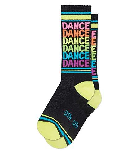 DANCE Socks by Gumball Poodle, Ribbed Gym Socks Unisex Statement Gym Crew Socks