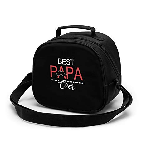 Best buckin papa ever Lunch Tote Lunch Bag Waterproof Reusable Lunch Box Portable Meal Bag Ice Pack For Kids Boys Girls