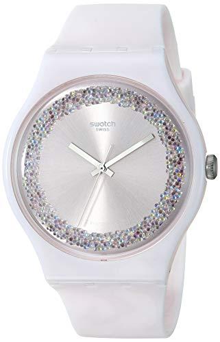 Relógio Casual Swatch, com pulseira de silicone de quartzo Think Fun 1809 (modelo: SUOP110)