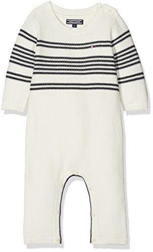 Tommy Hilfiger uniseks-baby rompertje PLACED STRIPE BABY COVERALL L/S