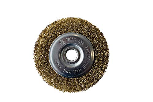 GLORIA Stahldraht-Fugenbürste | Zubehör für BrushSystem-Geräte (ausgenommen PowerBrush speedcontrol) | Drahtbürste zur Fugenreinigung | 110 mm Durchmesser |15 mm Breite