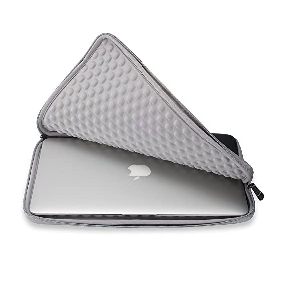 "Runetz Sleeve for MacBook 12 inch Sleeve Neoprene Case with Accessory Pocket with Retina Display and fit Other Laptop up… 5 MACBOOK PRO 13 INCH SLEEVE ★ Best Design Neoprene Sleeve with Pocket for MacBook Pro 13 inch and other 13 inch Laptop Computers like: MacBook, Lenovo ThinkPad, Surface Book, Dell, Samsung Chromebook, HP, Sony and other (please check measurements) MEASUREMENTS AND SIZES ★ EXTERIOR 13.7"" x 10"" x 1"" inch ★ INTERIOR 13"" x 9.4"" x 0.8"" inch. Your most valued MacBook Pro 13 inch deserves no less than the ultimate protection from scratching, scuffing, and dents, a Top-Quality Guarantee provided by Runetz 13.3 INCH LAPTOP SLEEVE ★ Made from Premium quality Neoprene, the Runetz MacBook Sleeve is precision engineered to provide maximum protection for your precious laptop 13.3 inch while allowing a snug fit without adding any extra bulk. Ensure Maximum Grip"
