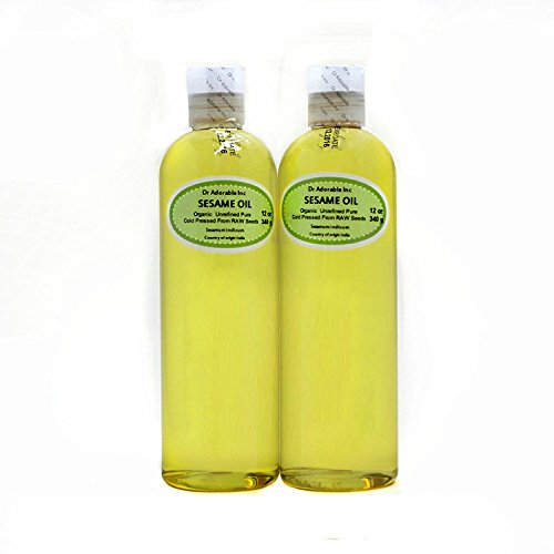 Sesame Seed Oil Unrefined Organic From Raw Seed by Dr.Adorable 24 Oz