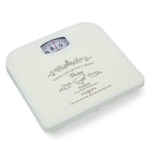 Home Basics Paris Inspired Mechanical Bathroom Bath Scale (Beige)