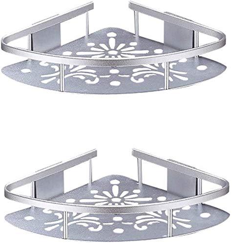 IUYJVR Estantes de Esquina de 2 Niveles de baño de Aluminio a Prueba de óxido Estantes de Ducha de Montaje en Pared Soporte de Almacenamiento de Estante Triangular de Pared de baño