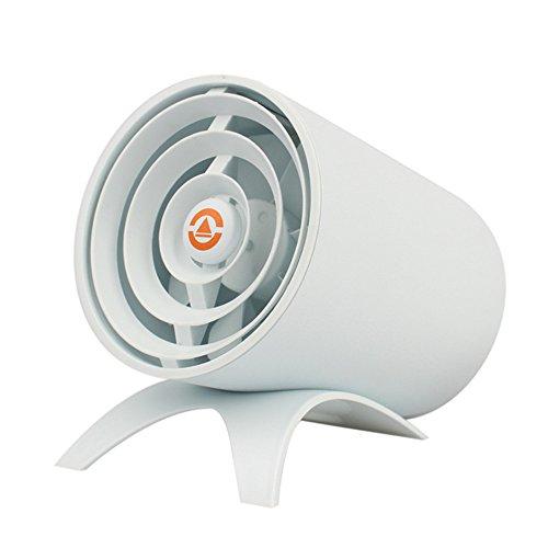 Mini USB Ventilatore Smart Toccare Mute piccole ventole desktop bianco, 4 pollici, ventola