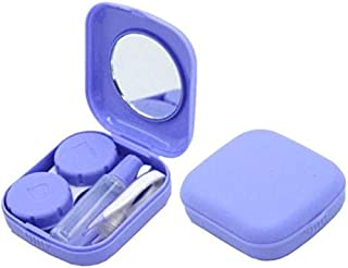 Mini Square Contact Lens Case Box Travel Kit Easy Carry Mirror Container