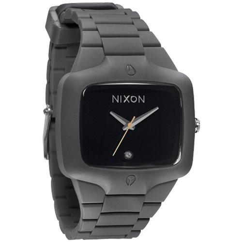 Big Sale Nixon Rubber Player Grey Black Mens Watch A139195