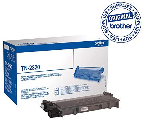Brother TN2320 Toner Originale, Alta Capacità, fino a 2600 Pagine, per Stampanti MFCL2700DW / MFCL2700DN / MFCL2720DW / MFCL2740DW / DCPL2500D / HLL23
