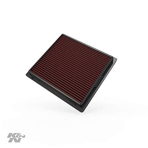 K&N 33-2457 Motorluftfilter: Hochleistung, Prämie, Abwaschbar, Ersatzfilter, Erhöhte Leistung, 2010-2019 (Grand Cherokee, Durango)