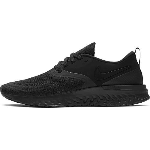 Nike Women's Odyssey Reach Flyknit 2 Running Shoe, Black/Black/White, Size 9.5