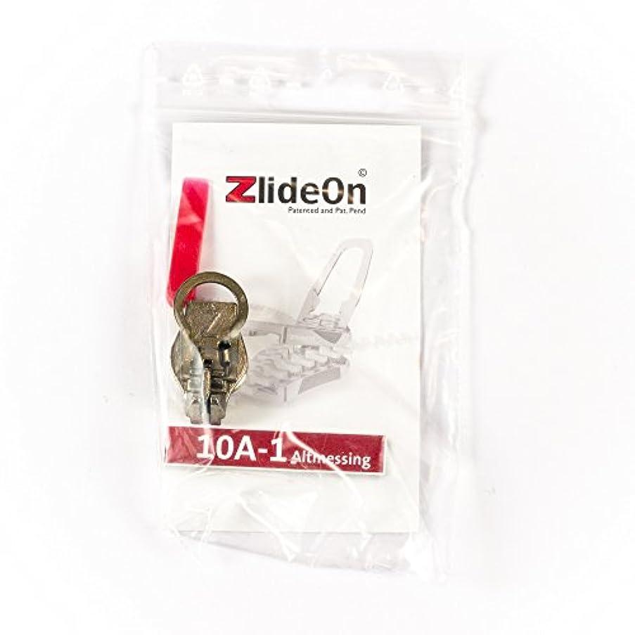Zlide On zipper 10a-1, old-brass
