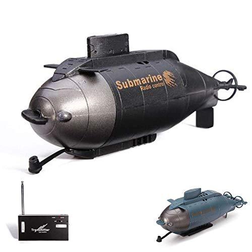 Submarino pequeño teledirigido con 6canales de radiocontrol, juego completo con batería integrada, cargador, control remoto