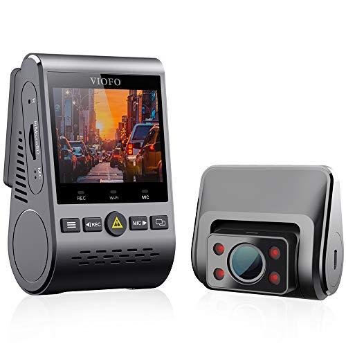VIOFO A129 Duo IR Dual Dash Cam Taxi Front and Interior Camera Infrared Night Vision Full HD 1080P Wi-Fi Car Dash Camera, GPS Included, Buffered Parking Mode, Motion Detection, G-Sensor