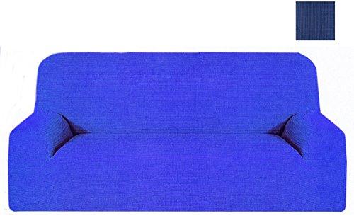 takestop Sofá 3plazas Azul Melody Extensible de 170a 250cm salvadivano Copri sofá Tela elástica Made in Italy