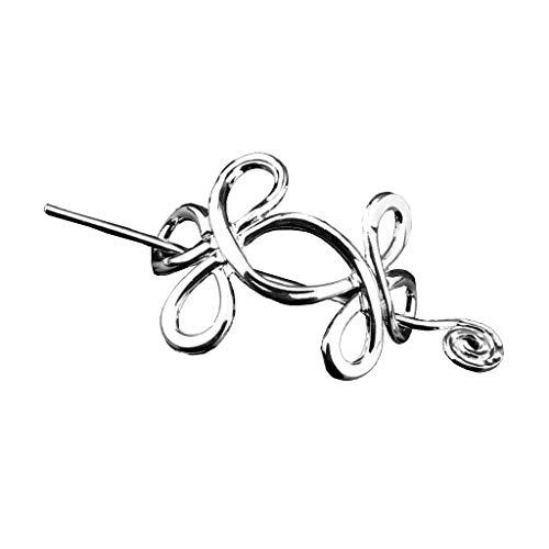 chiwanji Haarnadel mit Stab Haarschmuck für Lange Haare, Keltische Knoten, antikes Silber