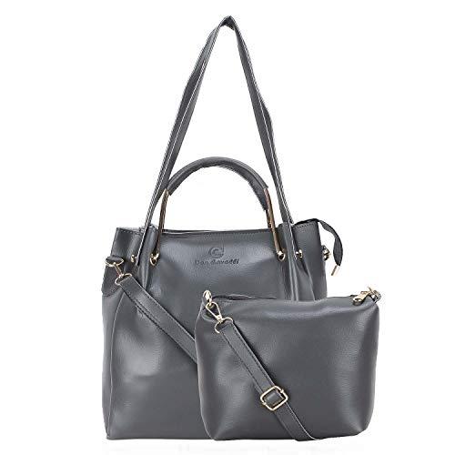 Don Cavalli Women's PU Leather Handbag (DC_HB_5_Black, Black)
