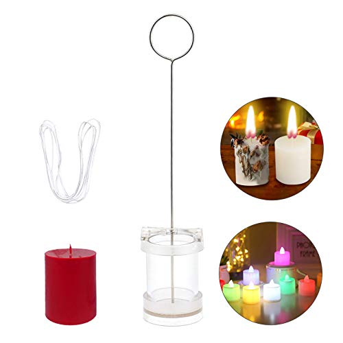 Plastic Candle Moulds for Candle Making Pillar Moulds for Candles Cylindrical Candle Mould with 1m Candle Wick Scented Candle Making Mould DIY Candle Making Kit for Scented Candle Soap Craft 4X6cm