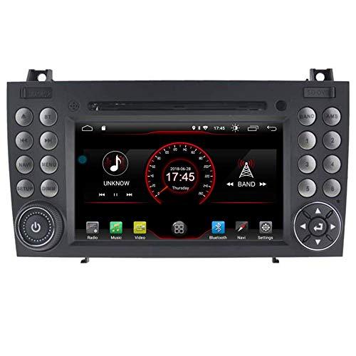 BWHTY Android 10 Car DVD Player GPS Stereo Head Unit Navi Radio Multimedia WiFi para Mercedes-Benz SLK R171 W171 SLK350 SLK300 SLK280 200 - -2011 Control del Volante