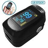 Fingertip Pulse Oximeter, Blood Oxygen Saturation Monitor for...