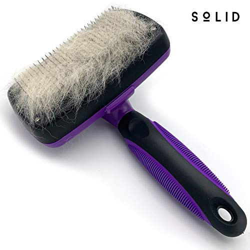 Solid Self Cleaning Slicker Brush Shedding Grooming Tool for Dog Cat...