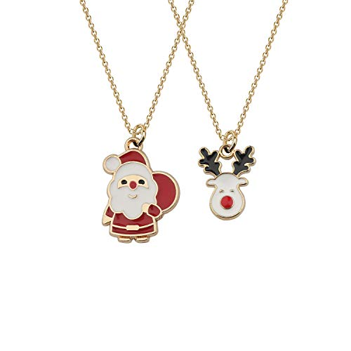 Tiny Santa Claus Christmas Gifts Necklace Reindeer Jewelry Gifts for Women Christmas's Day Gifts for Friends