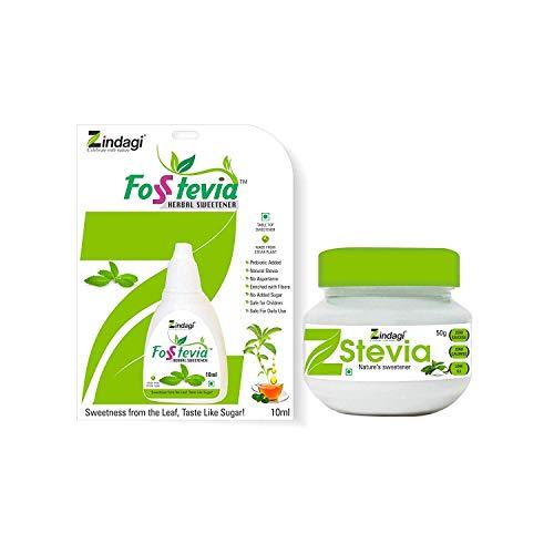 Zindagi Stevia Dried (Row) Leaves – Natural Stevia Sweetener – Herbal Sugar-Free (100 gm)