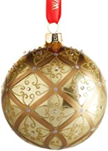 Waterford Holiday Heirlooms Gold Ball Christmas Ornament #153830 ~ Large Celtic Scroll
