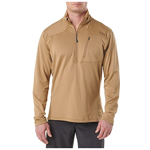 5.11 Tactical Men' Recon Half Zip Fleece, Coyote, Medium