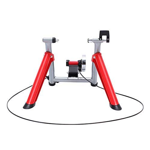COLOM Indoor Bike Trainer Stand Bike Trainer Stand Steel Bicycle Exercise Magnetic Stand 6 Levels Resistance for 26', 27' Mountain 700C Road Bikes