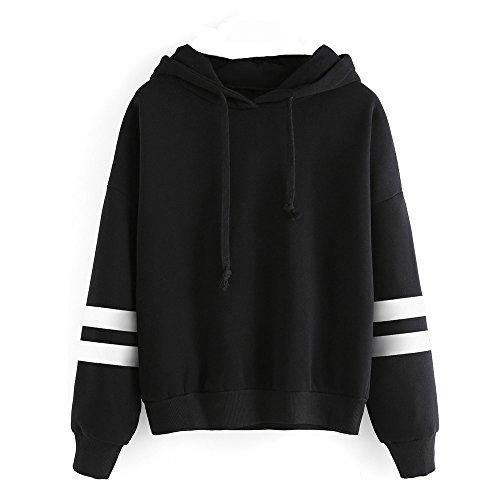 SANFASHION Tops Damen Pullover Langarm Hoodie Sweatshirt mit Kapuze Bluse Streetwear