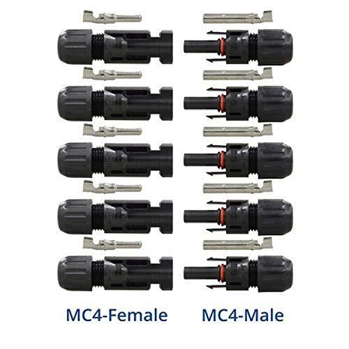 Renogy Fünf Paare MC4 Stecker+Buchse Steckerverbinder Für 5mm² Und 3mm² Solarpanel Leitungen TUV Solarstecker Kabelstecker Solaranlage Geprüft Und Sicher