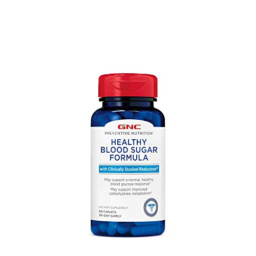 GNC Preventive Nutrition Healthy Blood Sugar Formula with Reducose, 60 Caplets, Supports Normal, Healthy Blood Glucose Response