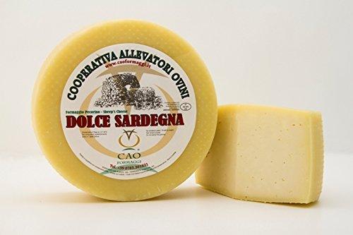 2 kg - Dolce Sardegna, formaggio pecorino. Cao Formaggi Pecorino realizzato in Sardegna dagli artigiani di Siamanna Formaggio di pecora sardo fresco Stagionatura - almeno 7 giorni