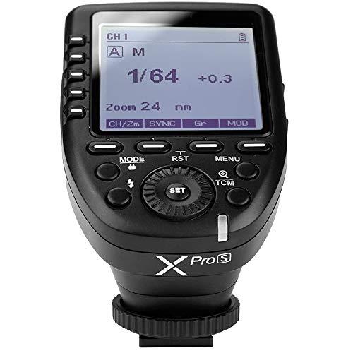 Godox XPro-S 2.4G TTL Deutsche Bedienungsanleitung Wireless Blitzauslöser Wirless X System High Speed mit Großen LCD Bildschirm Sender für Sony Kamera