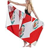 Bath Towel Microfiber Super Soft Bath Towel Small Peruvian Flags Sale on National High Water Absorption, Multi-Purpose 80cm*130cm for in Bathrooms, Hotels, Gyms and SP