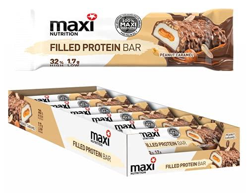 MaxiNutrition Filled Protein Bar Peanut-Caramel, 12 x 45 g Riegel