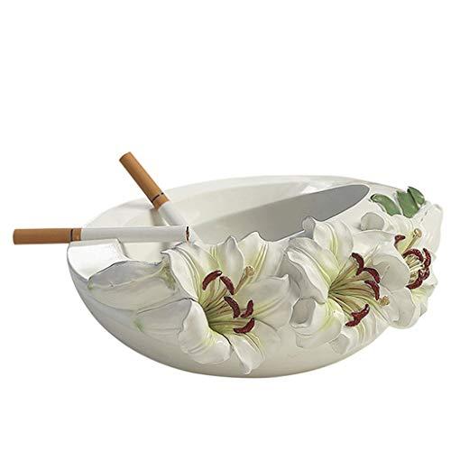 Gymqian Cenicero de Cigarrillo de Resina Fascinante Hecha a Mano, Bandeja de Ceniza de Fumar de Escritorio para el Arte de la Decoración de la Oficina en el Hogar Cenicero de cigarrillo/B
