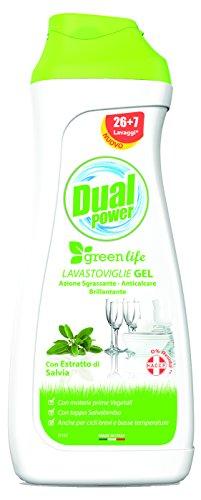 DUAL POWER Gel Lavastoviglie Greenlife Salvia 660 Ml Detersivo Detergente