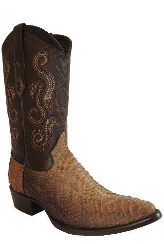 Cuadra Herren Westernstiefel Cowboystiefel Schlangenleder (handgefertigt) B2PHYT, Größe:40.5, Farbe:Paja Pulido