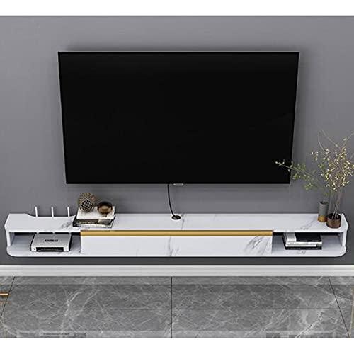 WFENG Mueble de TV,Fuerte Capacidad de Carga,para Componentes de TV/Cajas de Cable/Mandos a Distancia/Consolas de Juegos/C / 120×22×16cm