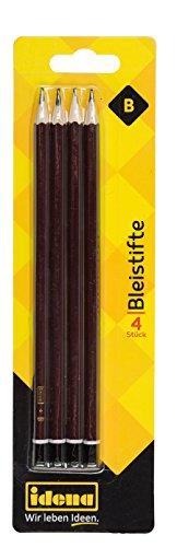 Idena 20005 - Bleistift, Härte B, FSC 100 %, 4 Stück