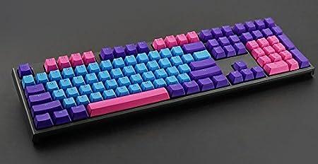 AllDecor 104/87 - Teclado mecánico de repuesto para teclado Flico Cherry MX CMxt Ducky IKBC (con extractor de llaves) negro Joker1