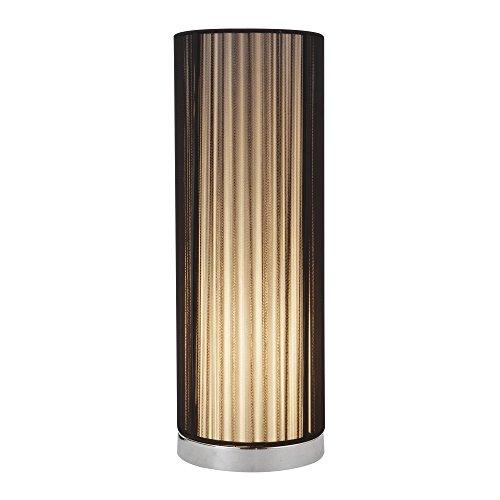 Tischleuchte E14 Lampe Chrom Schwarz 43cm Höhe Nachttisch Leuchte