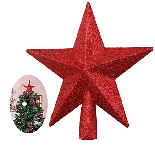 Sahgsa Weihnachtsbaum Stern Weihnachtsstern Weihnachtsbaumspitze Weihnachtsdeko Baumschmuck Glitzernde für Decoration 20cm