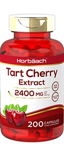 Tart Cherry Extract 2400mg | 200 Capsules | High Strength | Antioxidant Rich | Non-GMO, Gluten Free | by Horbaach