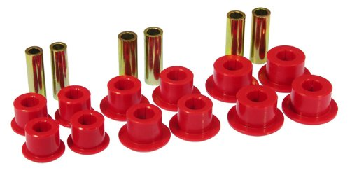 Prothane 7-1055 Red Rear Spring Eye and Shackle Bushing Kit