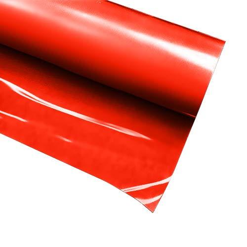 VVIVID+ Red Premium Line Heat Transfer Vinyl Film for Cricut, Silhouette & Cameo (12 x 36 (3ft))